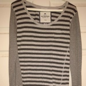 Poof excellence long sleeve striped  tee